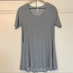 LLL Perfect Tee - Light Blue with Polka Dots